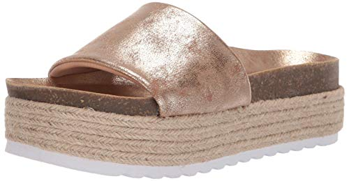 Dirty Laundry by Chinese Laundry Women's Pippa Espadrille Wedge Sandal, Gold Shimmer, 7.5 M US