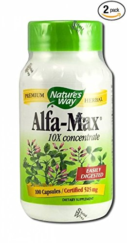 Natures Way 100 Vegetarian Capsules - Nature's Way Alfa-Max, 100 Capsules (Pack of 2)