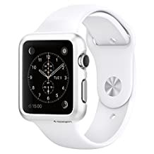 Spigen Thin Fit Apple Watch 38mm Case with Premium Matte Finish Coating Thin Case for Apple Watch 38mm 2015 - Smooth White
