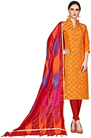 Ready to Wear Four Different Colored Banarasi Fabric Embroidered Salwar Suit