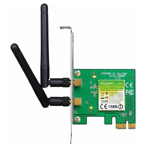 TP-Link TL-WN881ND WLAN PCI-E Adapter (bis zu 300Mbit/s, geeignet für Windows 10/8.x/Vista/7/XP)
