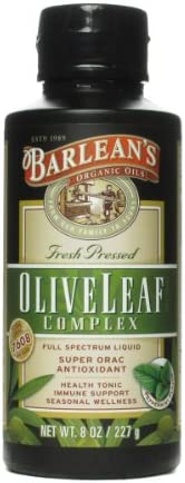 Barleans, Olive Leaf Complex Peppermint, 8 Ounce