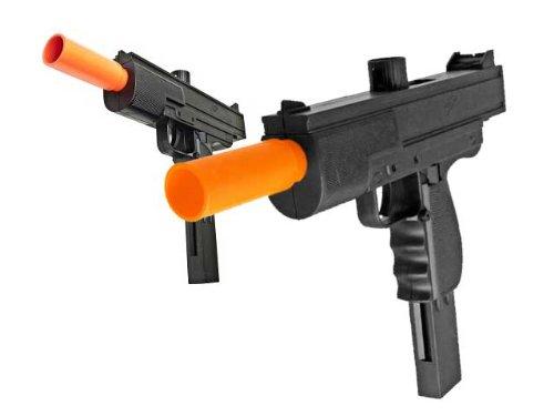 BBTac BBTac-M36-(x2) Dual Spring SMG's 250 FPS Airsoft Gun (2-Pack) - Airsoft Guns Dual Pistols