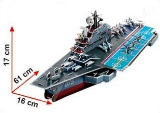 Kiev Aircraft Carrier 3d Puzzle - 103 Pcs