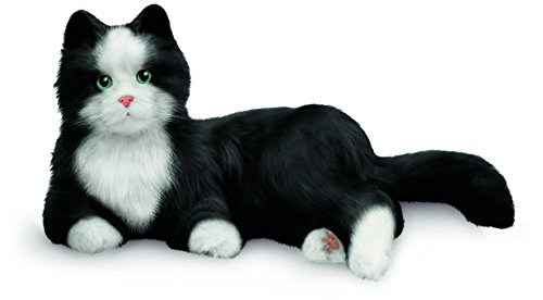 JOY FOR ALL Ageless Innovation Companion Pets | Black & White Tuxedo Cat | Lifelike & ()