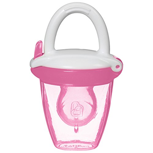 Munchkin Silicone Baby Food Feeder - •Specifically Designed for Babies 4+ Months, Trying Pureed Foods for the First Time (Pink)