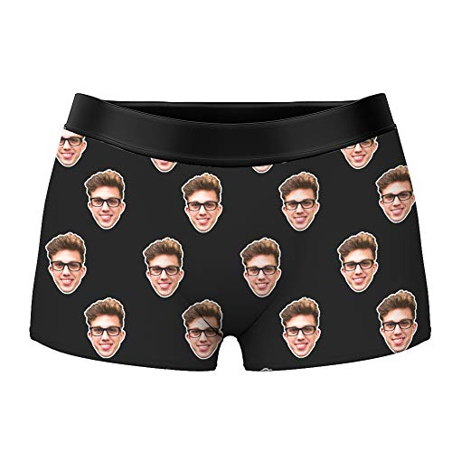 Men's Funny Face Boxer Shorts Novelty Custom Briefs Underpants Printed with Photo