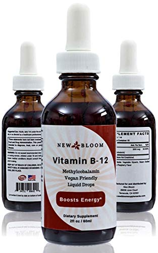 New Bloom B-Boost Vitamin B12 Methylcobalamin Sublingual Liquid Drops 3000mcg 2 fl oz / 60ml
