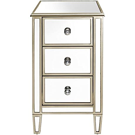 Pulaski Antique Mirrored Accent Chest With Gold Trim In Silver