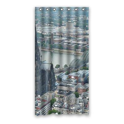 dalliy Custom de la Catedral de Colonia cortina de ducha poliéster 90 cm x 183 cm
