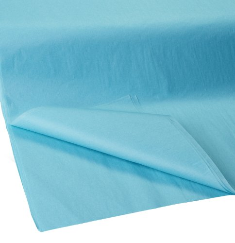 Jillson Roberts Bulk 20 x 30 Inches Recycled Tissue Available in 28 Colors, Aqua, 480 Unfolded Sheets ()