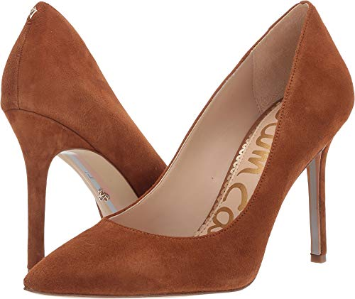 - Sam Edelman Women's Hazel Luggage Suede Kid Suede Leather 6.5 W US