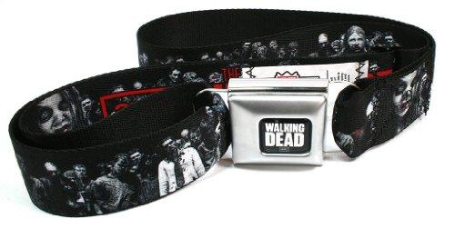 Walking Dead Zombies 2 Seatbelt Belt - Cheap Seat Buckle Belts