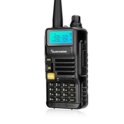 Quansheng UV-R50 Rechargeable Dual Band Two-way Radios Long Range Walkie Talkies (136-174MHz VHF & 400-520MHz UHF) Ham Amateur Radio Li-ion Battery and Charger included