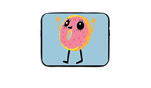 Laptop Sleeve Bag Cute Donut Face Cover Computer Liner Package Protective Case Waterproof Computer Portable Bags