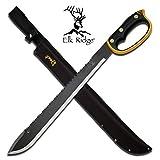 22' HUNTING SURVIVAL Sawback Military FULL TANG MACHETE Fixed Blade Knife SWORD
