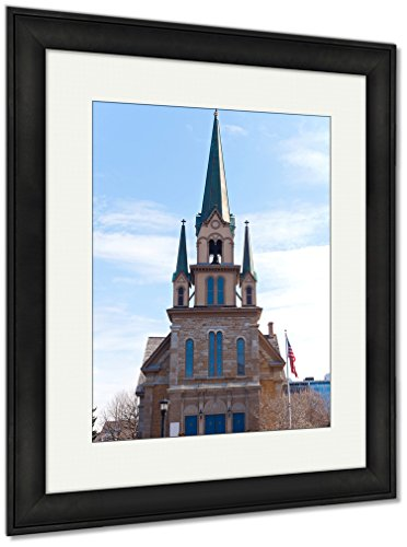 Ashley Framed Prints Catholic Church Our Lady Lourdes Nicollet Park Neighborhood, Wall Art Home Decoration, Color, 40x34 (frame size), Black Frame, AG5464051 by Ashley Framed Prints