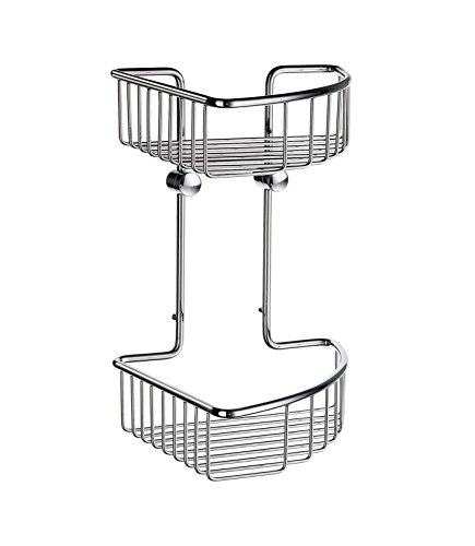 - Smedbo SME DK1022 Soap Basket Corner 2 Level, Polished Chrome,