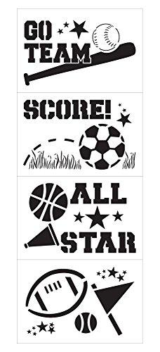 Sports Craft Stencil Set