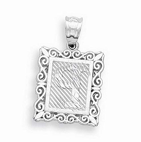Sterling Silver Initial P Charm (1.2in x 0.7in) Vintage Crafting Pendant Jewelry Making Supplies - DIY for Necklace Bracelet Accessories by CharmingSS