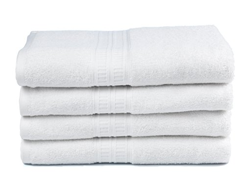 Premium Bamboo Cotton Bath Towels - Natural, Ultra Absorbent