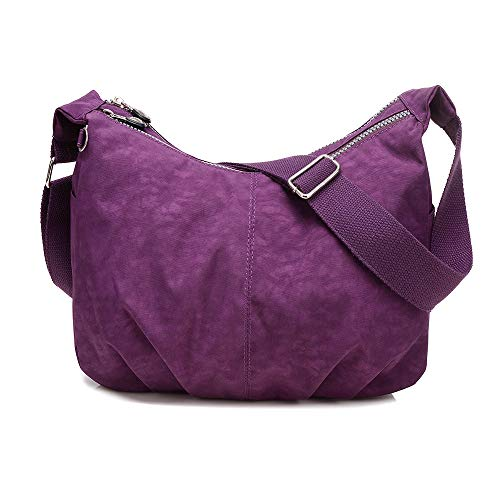 Moda Solido Con Impermeabile Donna In Viola Nylon Colori Borsa A Tracolla nUAApf