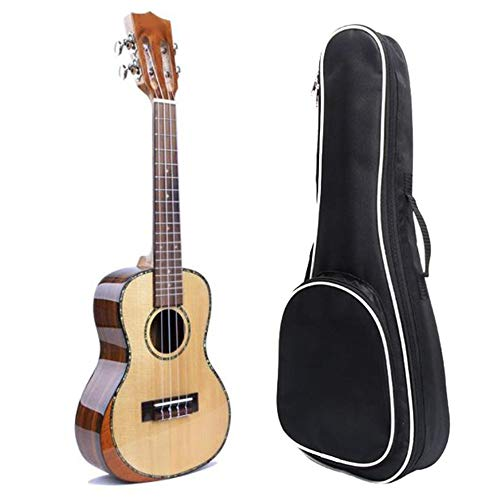 Durable Professional 23 Inches Concert Ukulele Spruce Wood Uke Hawaii Kids Small Guitar with Gig Bag for Adults Students…