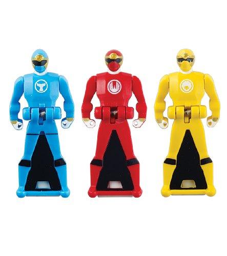 Power Rangers Super Megaforce - Ninja Storm Legendary Ranger Key Pack, Red/Blue/Yellow