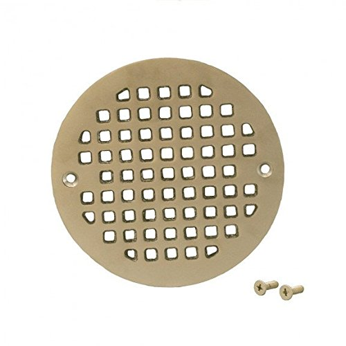 Jones Stephens Pearl Nickel 5.196 Round Cast Brass Heavy Duty Strainer