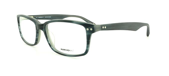 a7329fd8980 MARCHON M-CARLTON Eyeglasses 470 Matte Blue Horn 53-17-140  Amazon.co.uk   Clothing