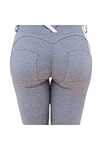 High Tempo Jogging Waist Libero Matita Monocromo Fit Tuta Trousers Pantaloni Button Autunno Dell'anca Del Pacchetto Bodybuilding Estivi Primaverile Lounayy Grey Lunga Slim Donne OFqdFH