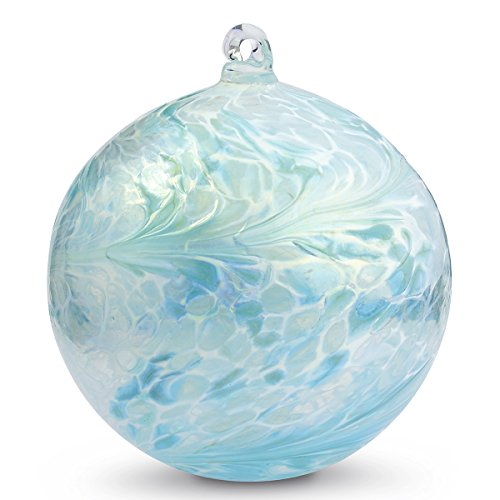 Friendship Ball ''January'' 4 Inch Kugel Iridized Witch Ball by Iron Art Glass Designs by Iron Elegance