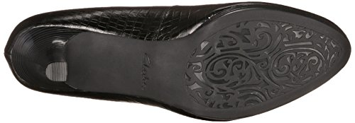 Clarks Mujeres Artisan Temp Appeal Plataforma Pump Black Snake Leather