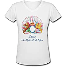 Women's Queen Album A Night At The Opera Cover Colleges T-shirts