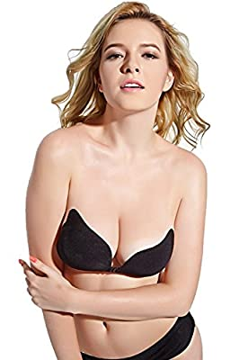 DGYAO® Women's Strapless Invisible Sticky Push Up Adhesive Bra for Backless Dress
