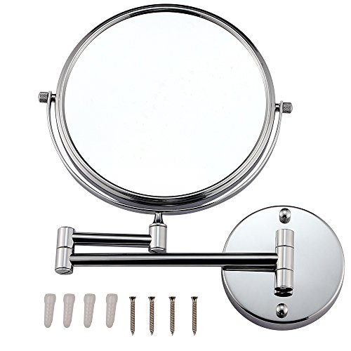 GURUN 8-Inch Two Sided Makeup Mirrors Dual Arm Wall Mount Mirror with 10x Magnification,Chrome Finish M1309(8in,10x) by GURUN (Image #4)