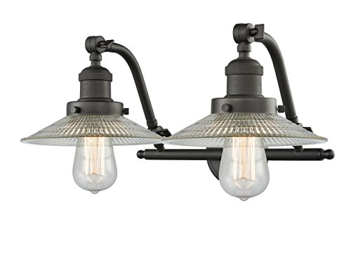 Innovations Lighting 2 Light Vintage Dimmable LED Halophane 20 inch Bathroom Fixture
