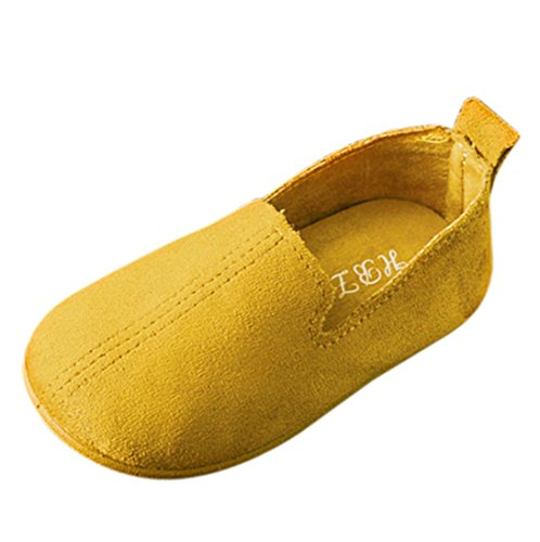 FEITONG Baby Fashion Child Girls Solid Color Casual Single Suede Leather Pricness Shoes ()