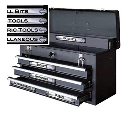 Harley-Davidson Magnetix Toolbox Identification Magnets, 16 Pack CG47000