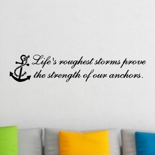 Cheap  1 X Life's Roughest Storm Prove The Strength Of Our Anchors....Beach Wall..