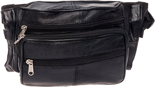 Silver Lilly Medium Concealed Carry Fanny Pack - CCW Gun Waist Pack by (Black)