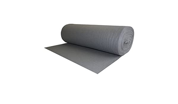 100/% Wool Felt Oxford Gray 1.2 MM Thick X 72 Inches Wide X 1 Yard Long
