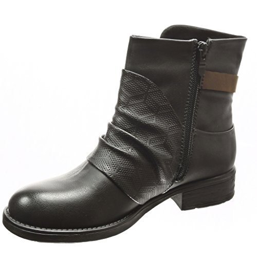 perfor Cavalier Bottine Angkorly Chaussure Motard Mode Femme IwYg7q