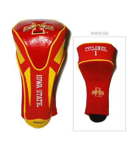Team Golf NCAA Iowa State Cyclones Golf Club Single Apex Driver Headcover, Fits All Oversized Clubs, Truly Sleek Design - Iowa State Cyclones Golf Headcover