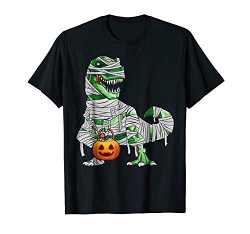 Halloween Pumpkin Dinosaur T Shirt Gift for Kids Boys Girls]()