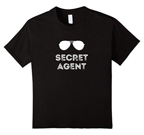 Kids Secret Agent Halloween Funny Costume Tee shirts 8 Black - Secret Agent Halloween Costume For Kids