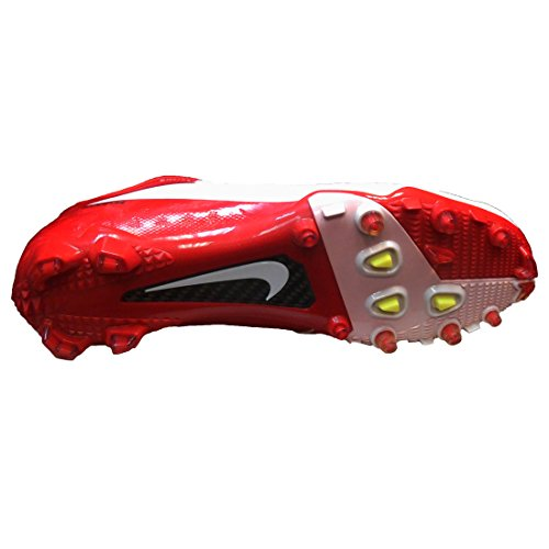 Nike Vapor Talon Elite Low TD Football Cleats (13, White/Game Red)