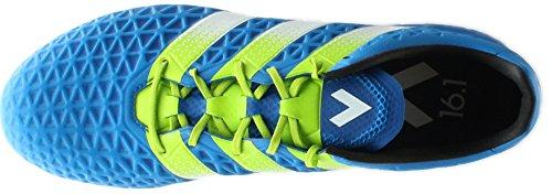 Adidas Tacos de fútbol 7 - Ace 16.1 Fg / ag, verde / rosa / negro Shock Blue/Solar Slime/White