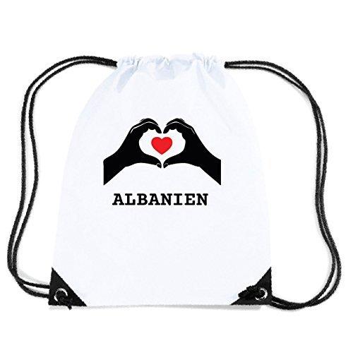 JOllify ALBANIEN Turnbeutel Tasche GYM4550 Design: Hände Herz