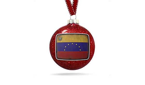 Neonblond Christmas Decoration Venezuela Flag With A Vintage Look Ornament Home Kitchen